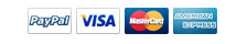 Payment Options Include Paypal, Visa, Mastercard & Amex
